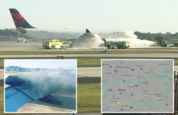 Delta flight bound for London makes emergency landing as smoke erupts from engine days after deadly Southwest Airlines mid-air explosion