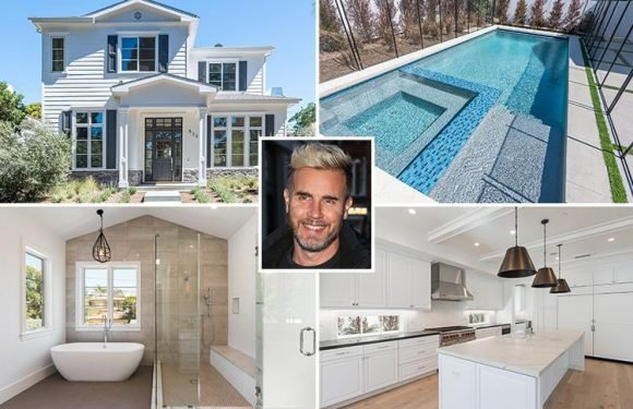 Gary Barlow swaps Cheshire for California as he splashes out on a lavish £4million Santa Monica beach house with huge swimming pool