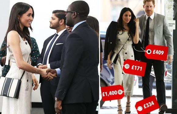 Meghan Markle earns her stripes in £1,400 Altuzarra dress as she attends Commonwealth Youth Forum event with Prince Harry