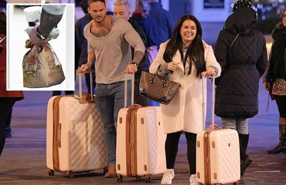 Scarlett Moffatt boards Saturday Night Takeaway 'party plane' with a McDonald's after boyfriend Lee Wilkinson finds his passport at the last minute