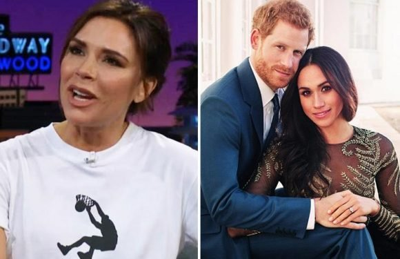 Victoria Beckham confirms she's going to Prince Harry and Meghan Markle's royal wedding before launching new Reebok range with basketball legend Shaquille ONeal