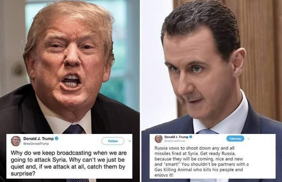Syrian tyrant Assad hides aircraft in safety of Russian hangars after Trump's 'missiles are coming' tweet tips him off