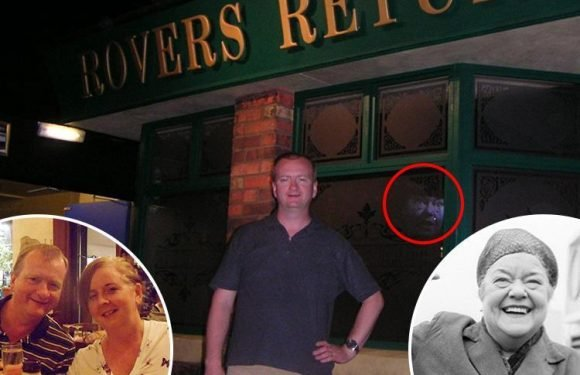 Couple claim to see 'ghost' of Coronation Street battleaxe Ena Sharples in holiday snap at Rovers Return
