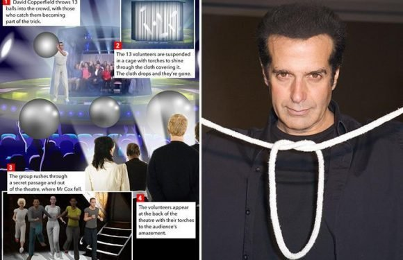 David Copperfield denies blame for Brit volunteer's injuries as secrets of magician's signature trick are revealed in court