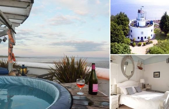 Historic 180-year-old lighthouse is transformed into £1.75m seven-bed home with HOT TUB on the roof