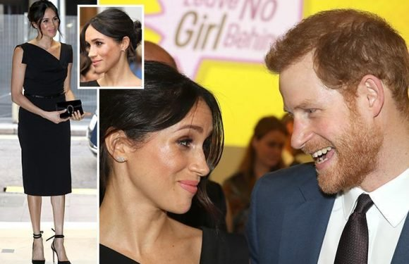 Meghan Markle shares a joke with Prince Harry at Commonwealth reception exactly one month before royal wedding