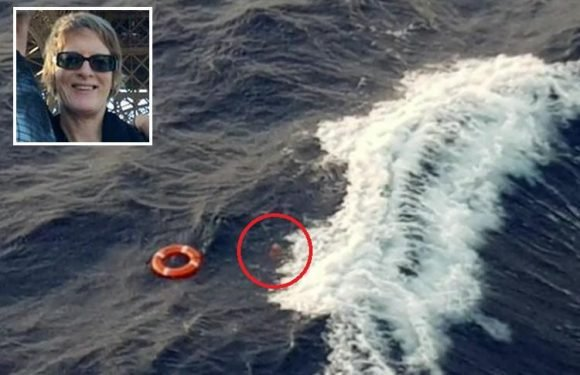 Haunting photo shows moment mum-of-three is swallowed up by the sea after falling to her death on luxury cruise