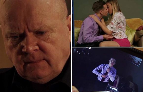 EastEnders fans sickened as Hunter Owen makes Phil Mitchell watch him take daughter Louise's virginity