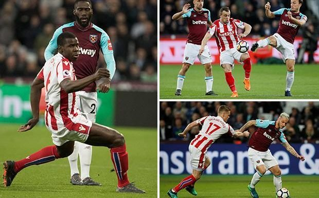 West Ham vs Stoke LIVE SCORE: Latest action from TONIGHT'S Premier League clash