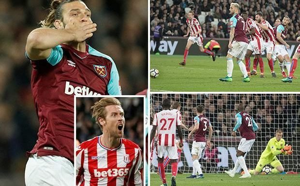 West Ham 1 Stoke City 1: Andy Carroll saves Hammers at the death after Peter Crouch looked to have sealed vital win