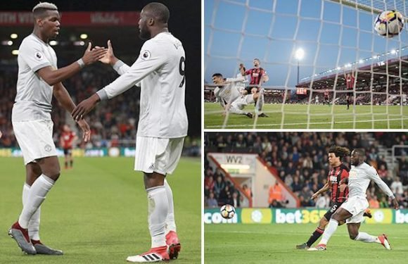 Bournemouth 0 Manchester United 2: Chris Smalling and Romelu Lukaku ensure Jose Mourinho's men bounce back following West Brom humiliation