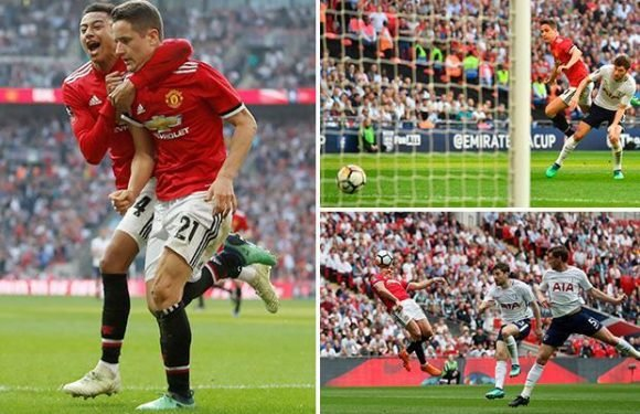 Manchester United 2 Tottenham 1 watch highlights: Red Devils come back from behind to reach FA Cup final thanks to goals from Alexis Sanchez and Ander Herrera