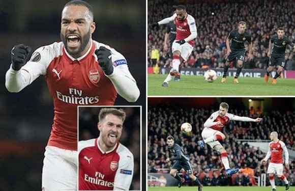 Arsenal 4 CSKA Moscow 1: Aaron Ramsey and Alexandre Lacazette strike twice as Gunners take grip on tie