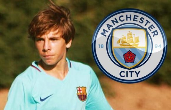 Manchester City 'to sign 16-year-old Barcelona wonderkid Adria Bernabe at end of season'