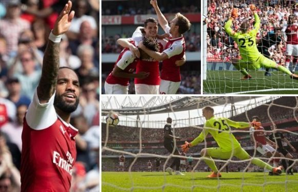 Arsenal 4 West Ham 1: Alexandre Lacazette nets late brace in Arsene Wenger's penultimate home Premier League game