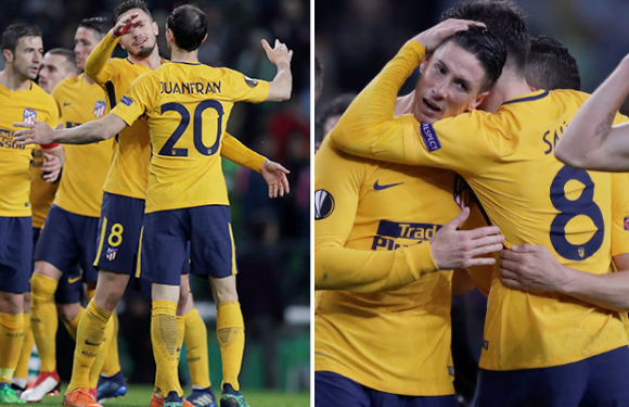 Sporting 1 Atletico Madrid 0 (agg 1-2): Fredy Montero's strike is not enough as Diego Simeone's side secure spot in Europa League semi-finals
