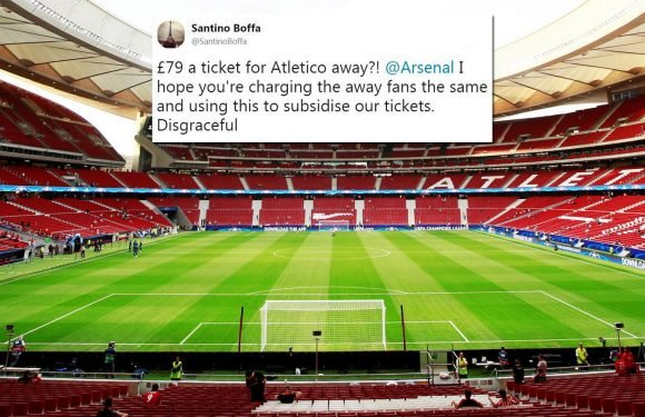 Arsenal fans fume over £79 Atletico Madrid away ticket prices with Gunners charging Europa League opponents just £37.50 for home leg