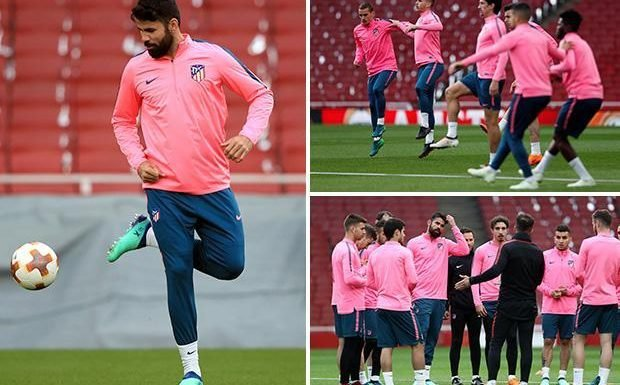 Arsenal vs Atletico Madrid: Diego Costa set to be unleashed on Gunners in Europa League semi-final first leg