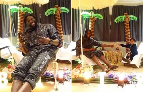 Crystal Palace ace Bakary Sako turns his bedroom into a beach to celebrate his 30th birthday