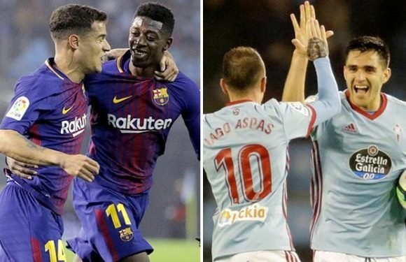 Celta Vigo 2 Barcelona 2: Catalan giants cling on to unbeaten record as Ernesto Valverde pays for fielding reserves