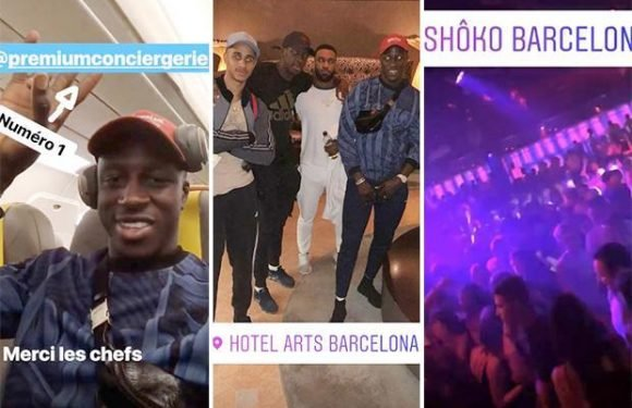 Manchester City star Benjamin Mendy jets out to Barcelona for holiday break after Premier League title win