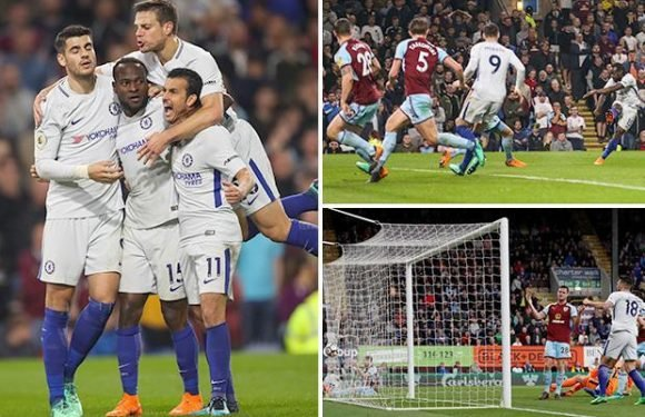 Burnley 1 Chelsea 2: Kevin Long's own goal and Victor Moses keep Blues' top four dream alive