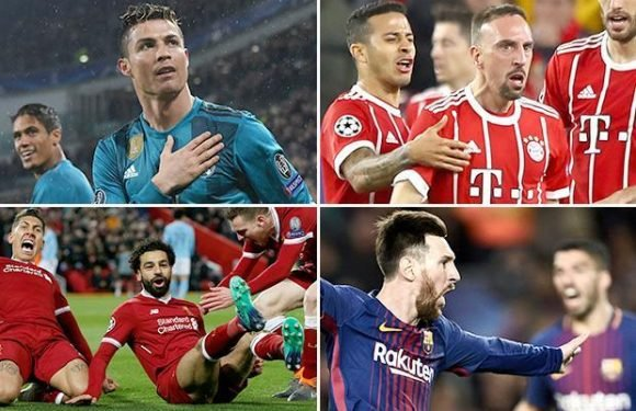 Champions League review: With 27 European Cups between them… Bayern Munich, Real Madrid, Barcelona and Liverpool is a tasty semi-final line-up