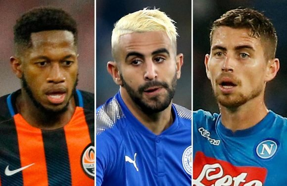 Man City to give Pep Guardiola £200m transfer warchest this summer with Jorginho, Riyad Mahrez and Fred on wishlist