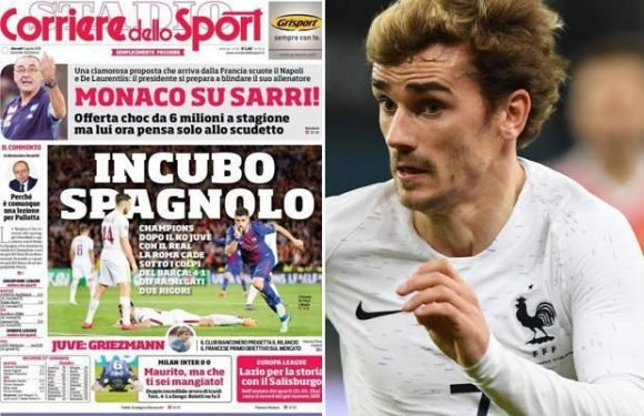 Juventus set to jump in on Manchester United and Barcelona's hunt for Antoine Griezmann