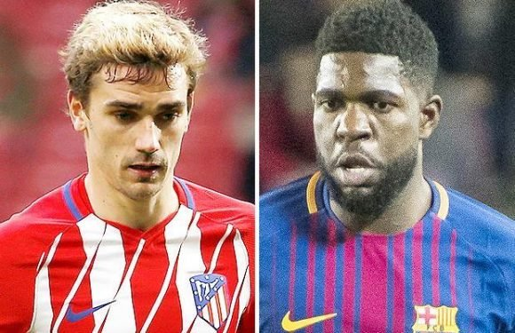 Samuel Umtiti reveals he has been talking to Ateltico Madrid star Antoine Griezmann about possible move to Barcelona