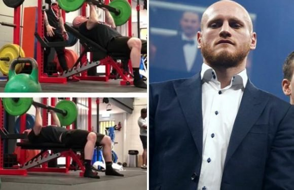 George Groves back lifting weights as he steps up training to fight Callum Smith in World Boxing Super Series