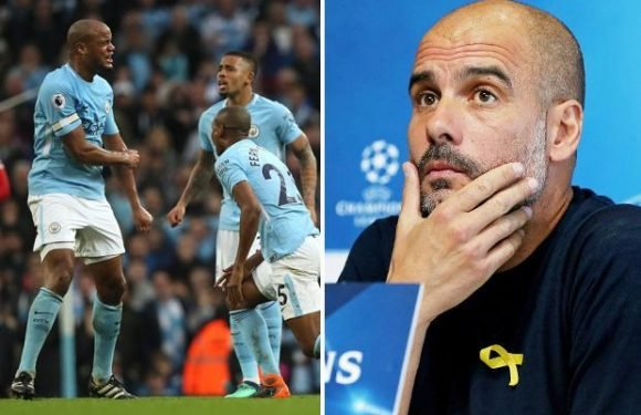 Manchester City boss Pep Guardiola reveals he may shake-up his defence for Liverpool game after back-to-back humiliations