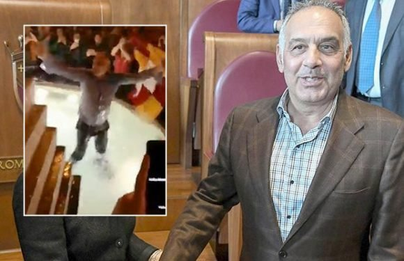 Roma president James Pallotta apologises and donates £200,000 to cover damages after celebrating Barcelona win in a FOUNTAIN