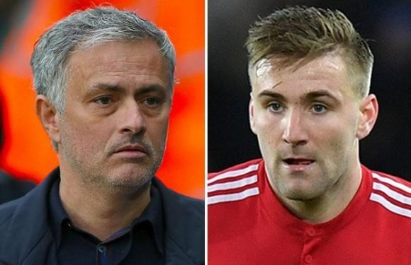 Manchester United want at least £28m for outcast Luke Shaw this summer after Jose Mourinho bust-up