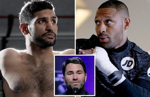 Amir Khan could face rival Kell Brook at Cardiff's Principality Stadium in December under roof if he beats Phil Lo Greco this weekend