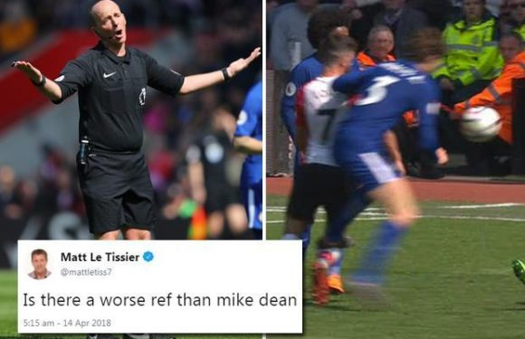 Matt Le Tissier blasts 'arrogant' ref Mike Dean for missing Marcos Alonso stamp on Shane Long