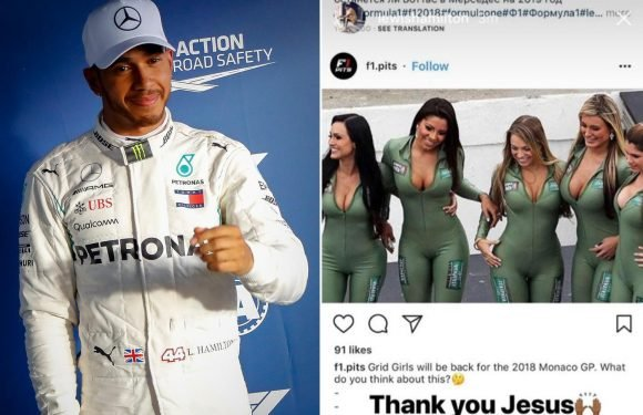 Lewis Hamilton appears to back Monaco Grand Prix officials' decision to use grid girls in Formula One