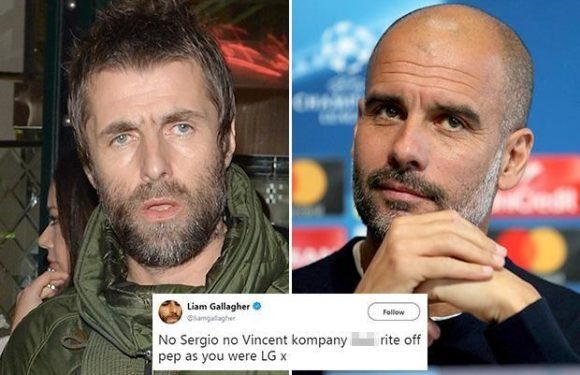 Oasis legend Liam Gallagher rages at Manchester City boss Pep Guardiola for team selection against Liverpool