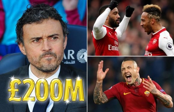 Luis Enrique wants £200m transfer war chest to overhaul Arsenal… and only strikers are safe from axe
