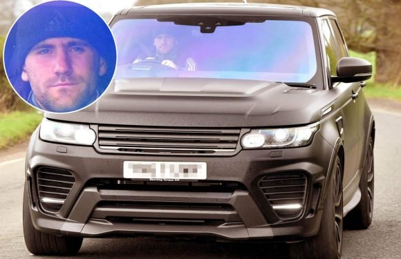 Man United outcast Luke Shaw shows off new wrap for luxury Range Rover on way into training