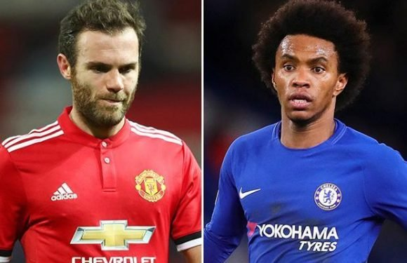 Manchester United could sign Willian from Chelsea with Juan Mata making way
