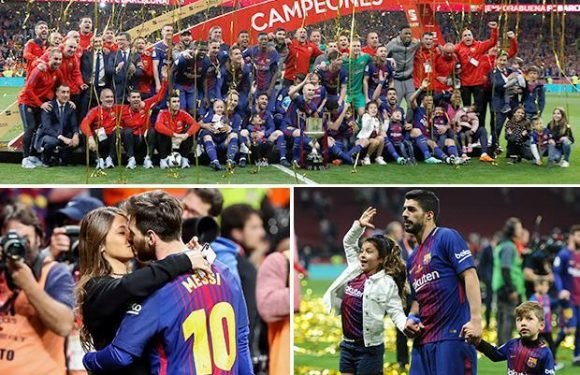Sevilla 0 Barcelona 5: Luis Suarez and Lionel Messi run riot as Barca win Copa del Rey for fourth year running