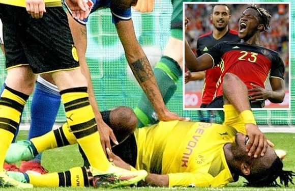 Michy Batshuayi and Belgium receive positive injury news ahead of World Cup after Dortmund star's ankle injury