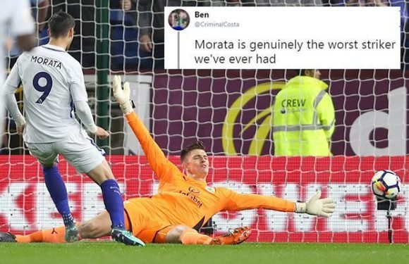Chelsea fans sent into frenzy after Alvaro Morata produces 'miss of the season' Burnley