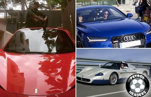 Neymar's car collection: PSG ace drives a fleet of motors worth over £1million, including a rare Maserati MC12 and flies in £6million private jet