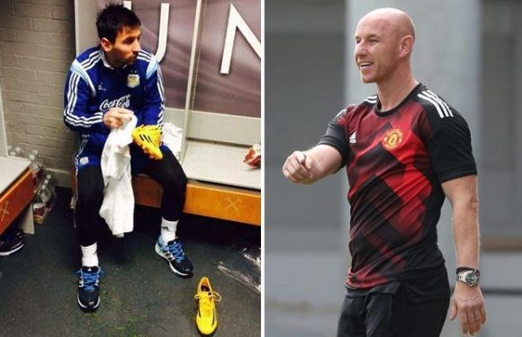 Manchester United have picture of Lionel Messi cleaning boots in dressing room to keep academy stars grounded