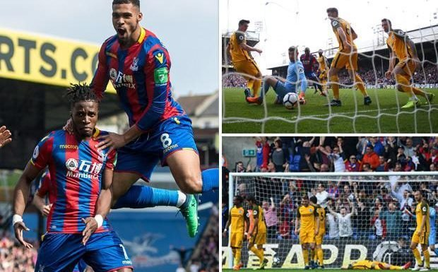 Crystal Palace 3 Brighton 2: Wilfried Zaha double secures vital win in battle to beat the drop
