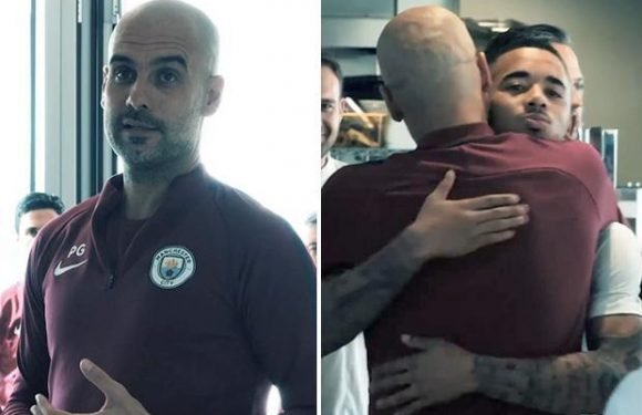 Pep Guardiola rouses Manchester City players and staff with speech saying title season 'will be in my heart until the last day of my life'