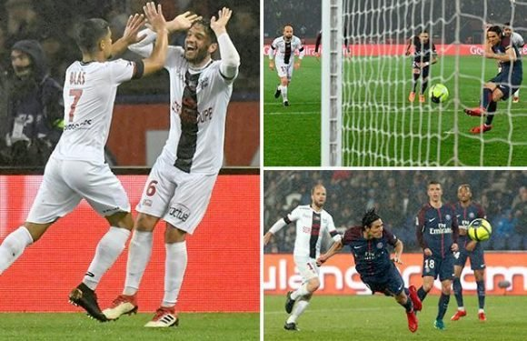 PSG 2 Guingamp 2: Edinson Cavani spares champions' blushes with two goals in six minutes late on to rescue a point