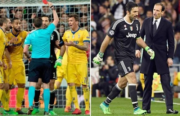 Juventus goalkeeper Gianluigi Buffon given standing ovation by Real Madrid crowd after red card in last European match